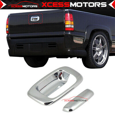 Fits 99-07 Chevy Silverado GMC Sierra Chrome Overlay Tailgate Door Handle Cover