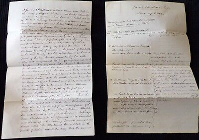 2 Documents Related to a James Challiner of Leek, Stafford County, 1869
