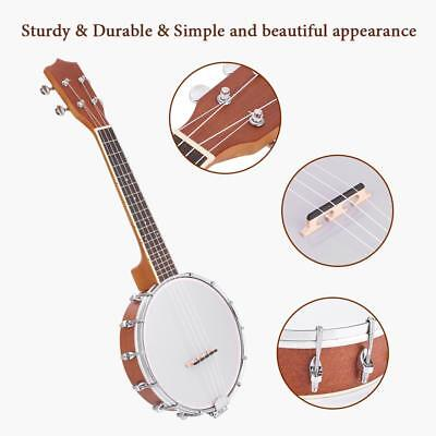 4-string Banjo Exquisite Pro Maple Wood Rosewood Alloy With Strings Capo Kit
