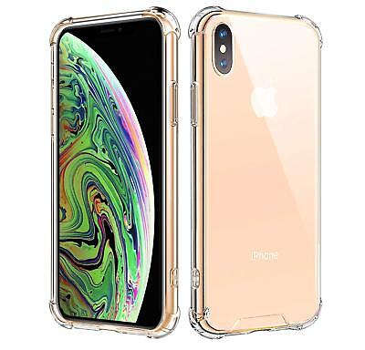 For iPhone XS Max XR Clear PC Back Shell + Shockproof TPU  Silicone Bumper Case