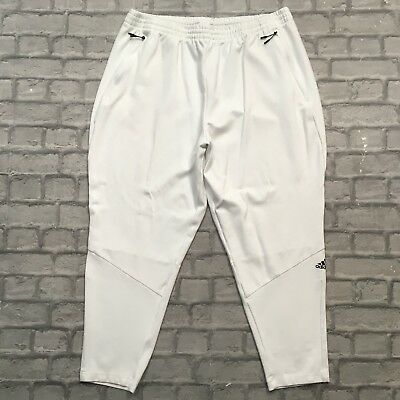 Adidas Mens Uk 2Xl White Performance Zne Jogging Bottoms Sweatpants Joggers