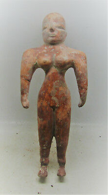 Scarce Circa 2800-2000Bce Early Indus Valley Harappan Terracotta Statuette