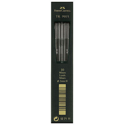 Faber-Castell - Tk Clutch Pencil Leads - Tube of 10 Leads , 2Mm, H