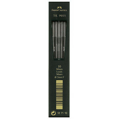 Faber-Castell - Tk Clutch Pencil Leads - Tube of 10 Leads , 2Mm, F