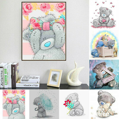 5D DIY Diamond Painting Flower Animal Embroidery Cross Crafts Stitch Ho Q4T9 5X