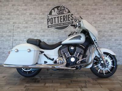 Indian Motorcycle Chieftain Limited white Stoke