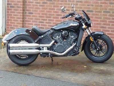 Indian Scout Sixty, 18/18 Black 2900 Miles 1 owner FSH Mint condition