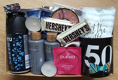 Mens 50Th Birthday Gift Hamper Perfect Gent Mug Tea Baylis Harding Gillette