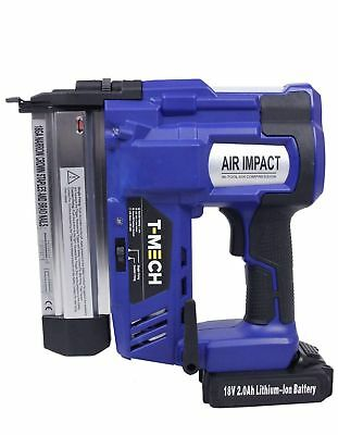 T/Mech 2 in 1 Nail & Staple Gun. Cordless Powerful Electric Heavy Duty Stapler