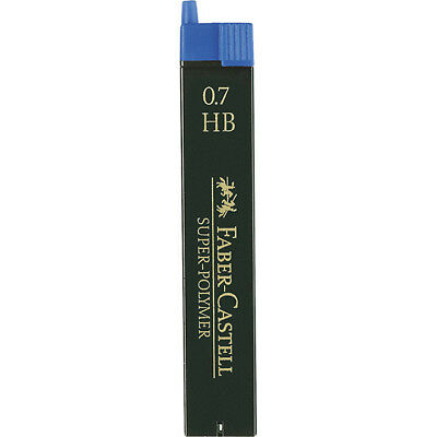 Faber-Castell - Super-Polymer Fineline Leads - Tube of 12 Leads , 0.70Mm, HB