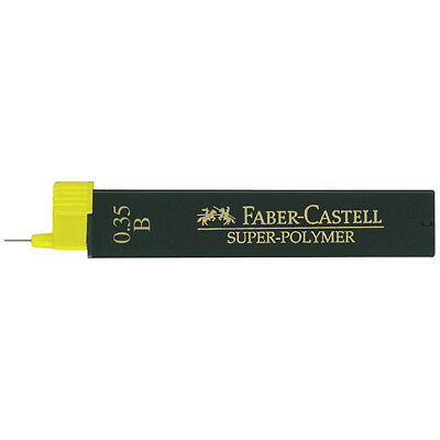 Faber-Castell - Super-Polymer Fineline Leads - Tube of 12 Leads , 0.35Mm, B