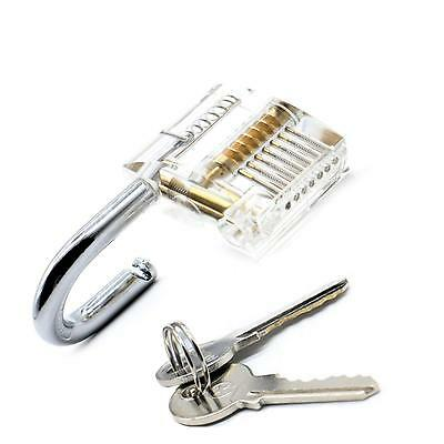 Clear Lock Kit Hardware Multitool Transparent Padlock Training Lock Pick Set Toy