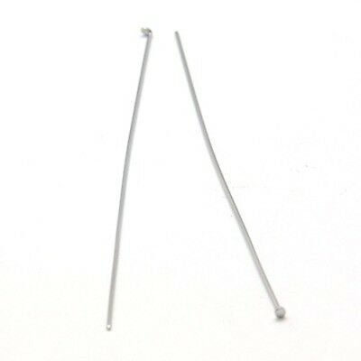 100 pieces 304 Stainless Steel Ball Headpins 50x0.6mm Jewelry Findings Tools