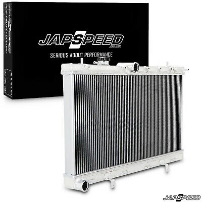 JAPSPEED 40mm ALLOY RADIATOR RAD FOR SUBARU IMPREZA NEWAGE GDA GDB WRX STI 03-06