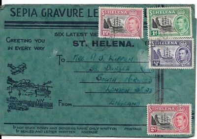 Interesting St. Helena Cover with 4 Stamps