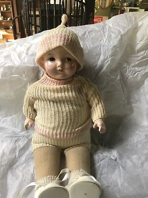 "Effanbee 14"" Composition & Cloth Baby  Doll"