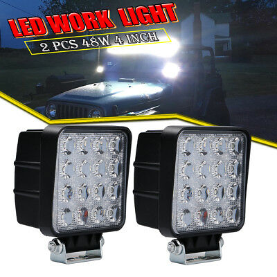 4INCH 48W Square LED Work Light Bar Spot Truck Off-road  Jeep Driving BUMPER ATV