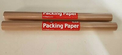 PACK 2 Brown Kraft Parcel Packing Paper Packing and Wrapping Parcels 500mm x 6cm