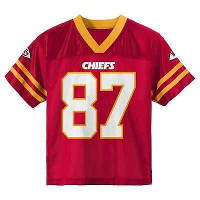 Travis Kelce Kansas City Chiefs Red Home Player Jersey Size Youth Small (6/7)