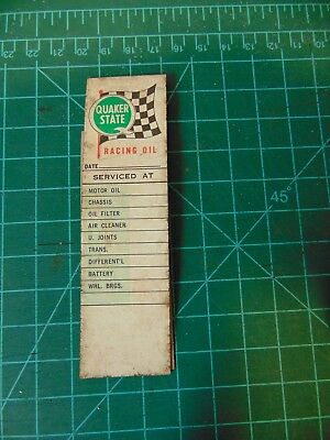 QUAKER STATE Oil Change reminder stickers