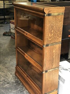 antique oak barrister bookcase