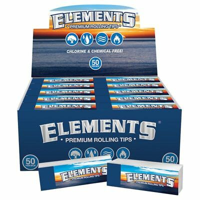 Elements Rolling Filter Tips Roaches Roach Paper Card Chlorine Chemical Free NEW