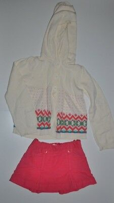 Baby Gap Girls Fair Isle Cardigan Sweater & Skirt Outfit Size 5 Years 5T