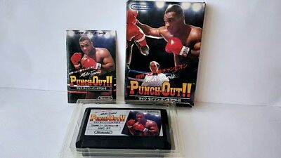 Mike Tyson's Punch-Out!! Nintendo Famicom NES Game Cartridge,manual,Boxed-a520-