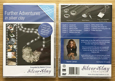 Further Adventures in Silver Clay DVD by Natalia Colman (BRAND NEW & SEALED DVD)