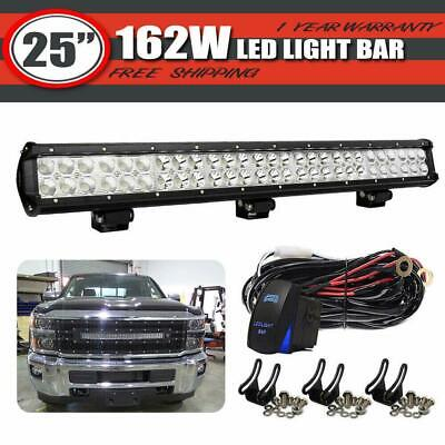 25Inch LED Work Light Bar Spot Flood FOR Pods Truck Offroad FORD F-150 4WD 24