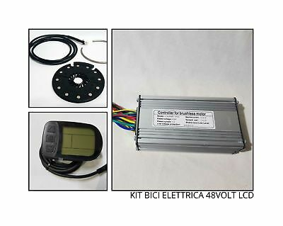 KIT COMPLETO ricambi bici elettrica ebike CENTRALINA DISPLAY PAS 48Volt 22AH LCD