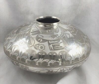 Howard Sice Hopi Native American Decorated Large Great Vase / Seed Bowl