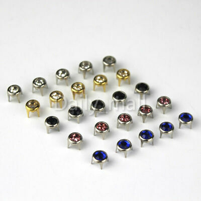 "60SS 12MM 1//2/"" Round Spot Nailhead Spike Studs 5 Prong Rock Plurnation Getweird"