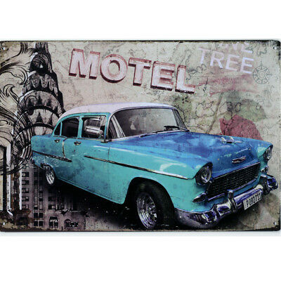 Retro Deko Blechschild Chevrolet Bel Air US Car Hot Rod USA Vintage Metallschild