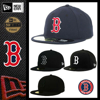 New Era 59FIFTY BOSTON RED SOX Game GM MLB Baseball Cap fitted 5950 Hat Navy