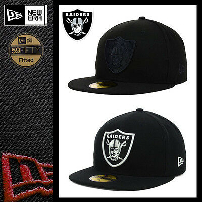 99bb72d1968 New Era 59Fifty Oakland Raiders Black Nfl 5950 On Field Custom Fitted Hat  Cap