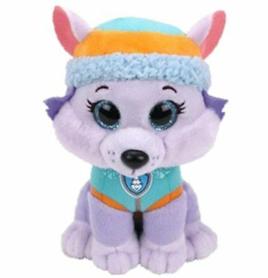 "Everest Wolf 6"" Ty Beanie Boos Puppy Glitter Big Eyes Plush Stuffed Animals Toy"