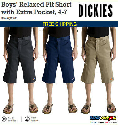 Dickies Boys Relaxed Fit School Uniform Shorts FlexWaist QR3200 QR200/Husky 4-20