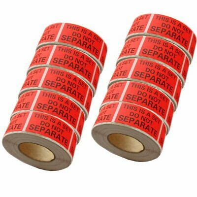 10 Rolls 1X2 Warning Labels This Is a Set Do Not Separate Shipping Stickers