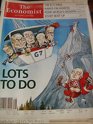 The Economist July 1991 The Bcci Mess Hands-On Hanson Poor World's Growth