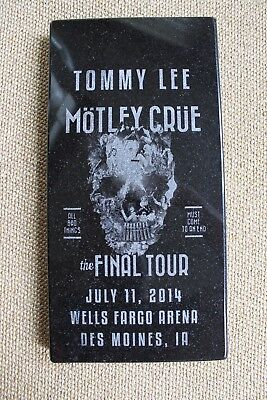 Tommy Lee Owned Motley Crue Granite Headstone Final Tour Nikki Sixx Mars Neil