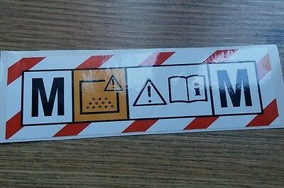 M CLASS safety VACUUM HOOVER extractor Sticker Dewalt