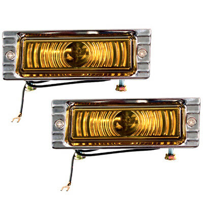 1947~53 Chevy Pickup Truck Parking Lens Lamp Light Assembly(Amber) 6 Volt Pair