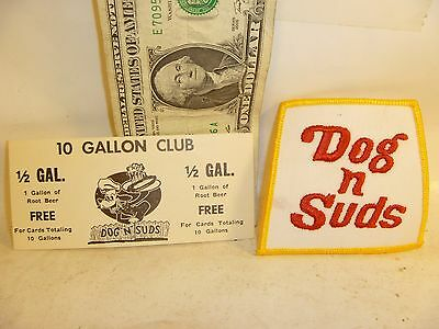 Free Shipping Old Dog & Suds Patch And Coupon Never Used Nice Looking Root Beer