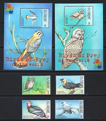 St Vincent 2001 Birds of Prey - MNH Stamps & 2 Mini Sheets - Cat £17 - (239)