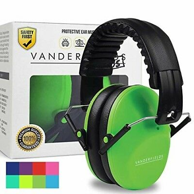 Ear Defenders for Kids Toddlers Autism Noise Reduction Hearing Protection Green