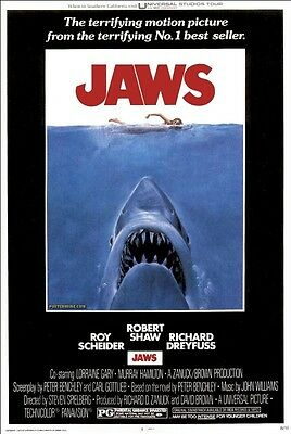 Poster Jaws Steven Spielberg The Shark 1 2 3 4 5 Big #3