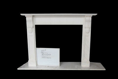 Attractive & Simple Hand Carved French Design Marble Fireplace Mantel