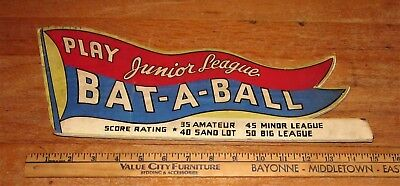 BAT A BALL Reproduction MARQUEE  No Reserve