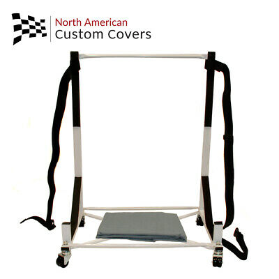 Heavy-Duty Hard Top Stand Storage Trolley Cart Rack & Hardtop Dust Cover (050G)